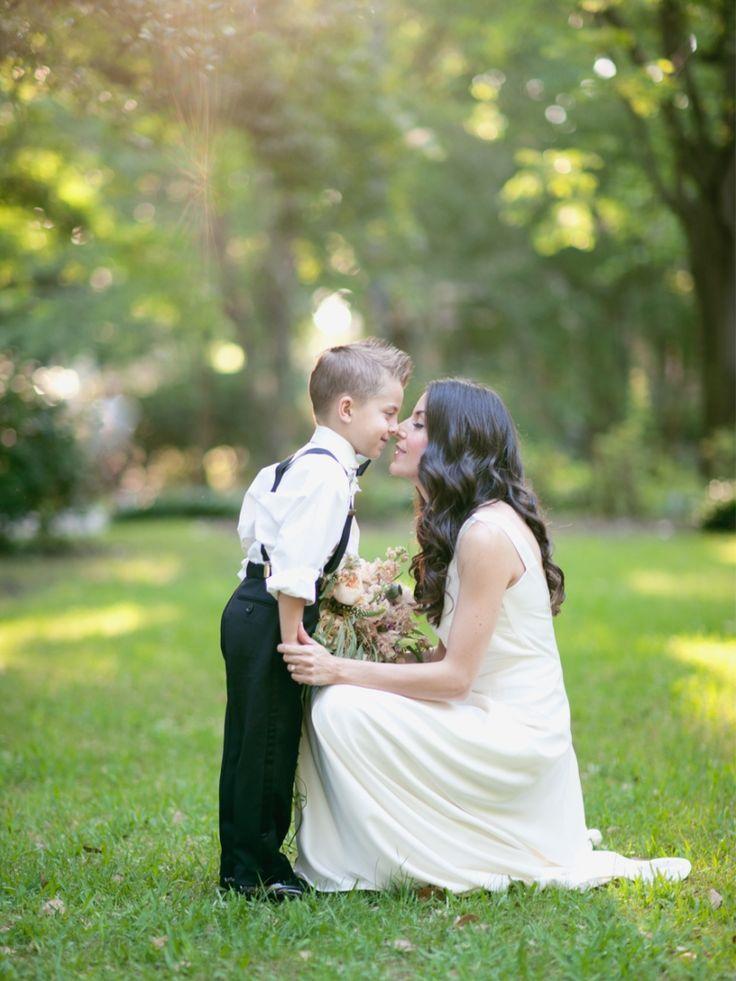 Mother son photo, Savannah wedding, Georgia, gold, neutral, romantic, ring bearer