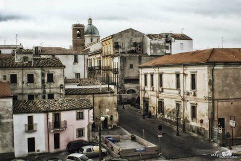 Ascanio Buccella - Ortona (Ch) Una parte del paese visto dal castello aragonese.