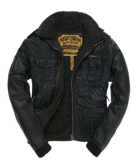 Brad Flight Jacket | 450.00 from Superdry: Jackets 450, Superdri Brad, Flight Jackets Superdri, Men'S Leather Jackets, Superdri Jackets, Leather Brad, Fleeci Leather, Brad Flight, Superdri Leather Jackets