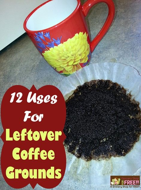 12 Uses For Leftover Coffee Grounds! If there is one thing in my house I use on a regular basis and can always count on having on hand… it would be leftover coffee grounds!