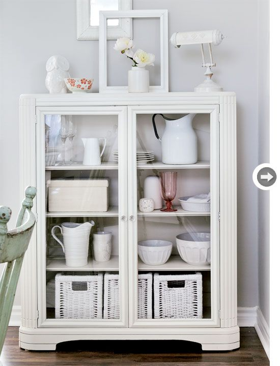 Vintage furniture: All-white vintage cabinet {PHOTO: Donna Griffith}