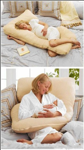 I'm not pregnant nor do I have a baby but goodness this pillow looks comfy!!!