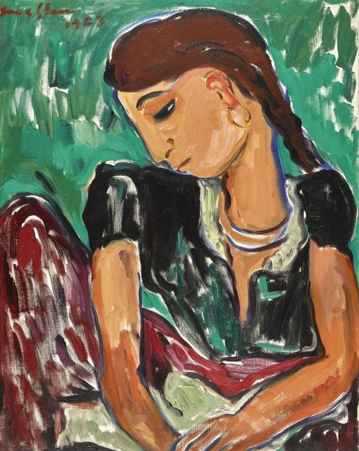 Irma Stern - GYPSY GIRL, 1963, oil on canvas