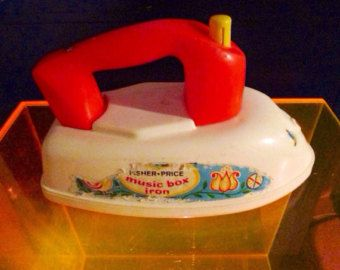 Fisher Price Musical Iron, VINTAGE Toy!