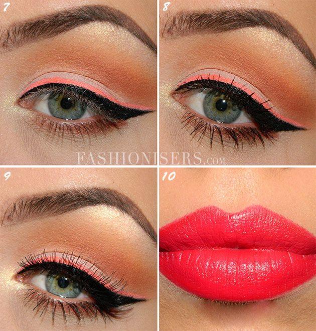 Modern Pin Up Makeup Tutorial  #pinupmakeup #pinup #makeuptutorial