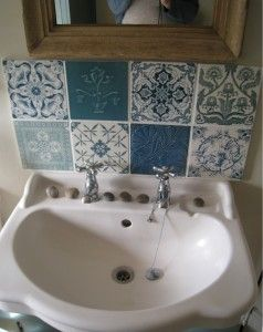 Find This Pin And More On Bathroom Sinks Pretty Tile Splash Back