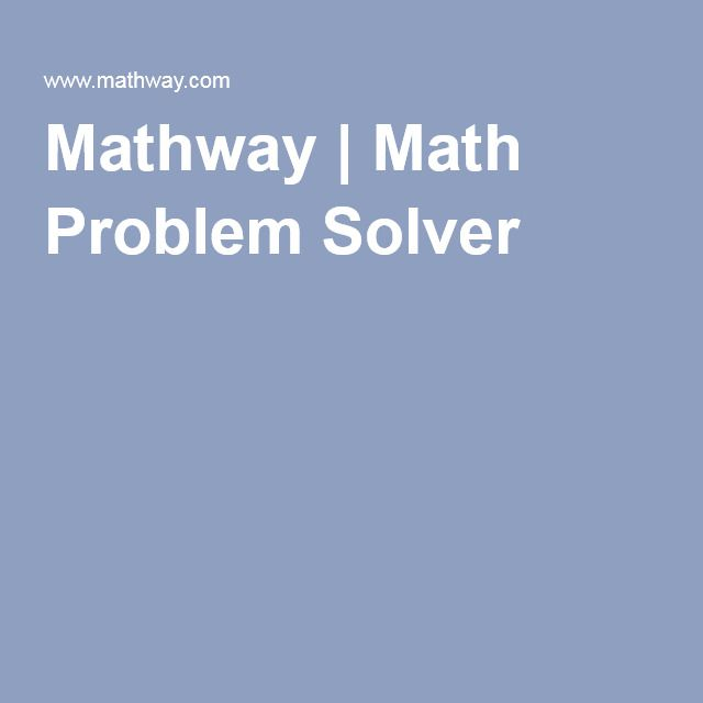 Solve my math problems for free