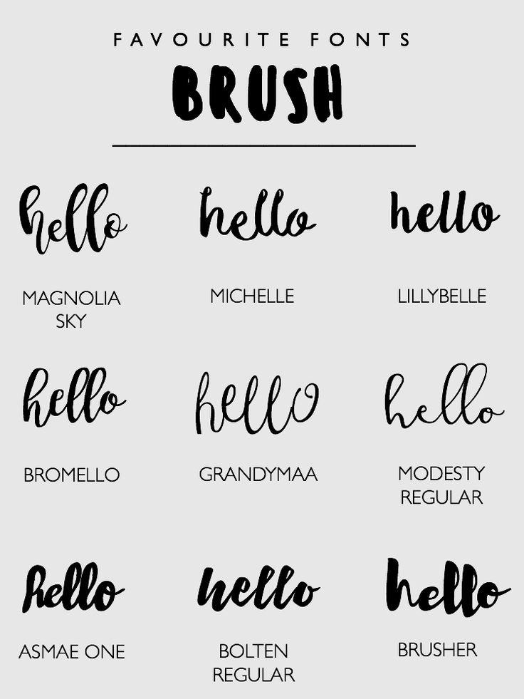 Best fonts images on pinterest typography script