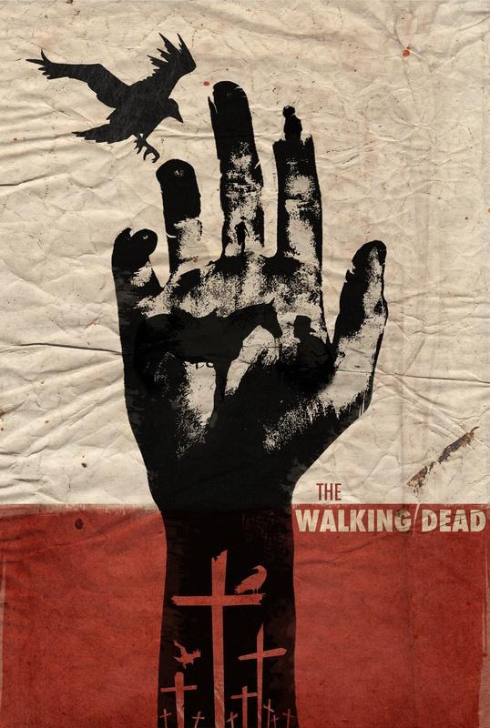 The Walking Dead TV Print  Luis Fernando Cruz: Tattoo Ideas, Thewalkingdead, The Walks Dead, The Walking Dead, Art Prints, Movies, Retro Poster, Twd, Sweet Tattoo