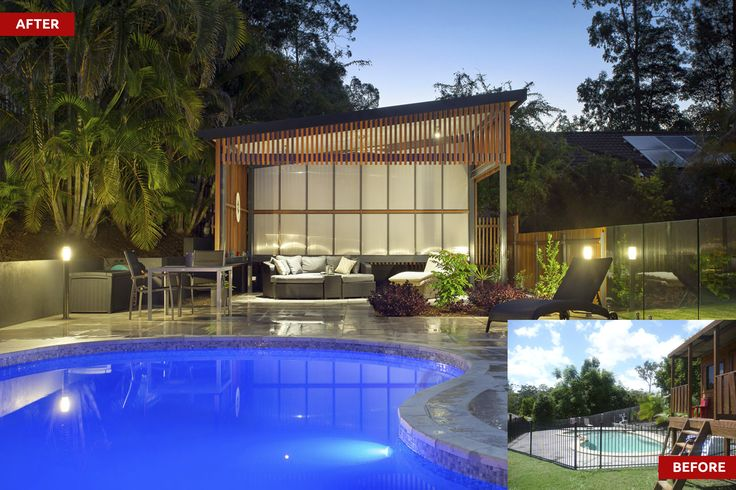 The purpose of the renovation was to provide much better linkage between the outdoor entertaining and pool with the existing home.