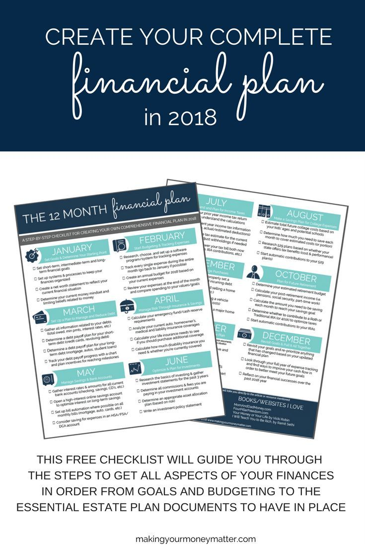 12 month financial plan in 2018 finances pinterest financial