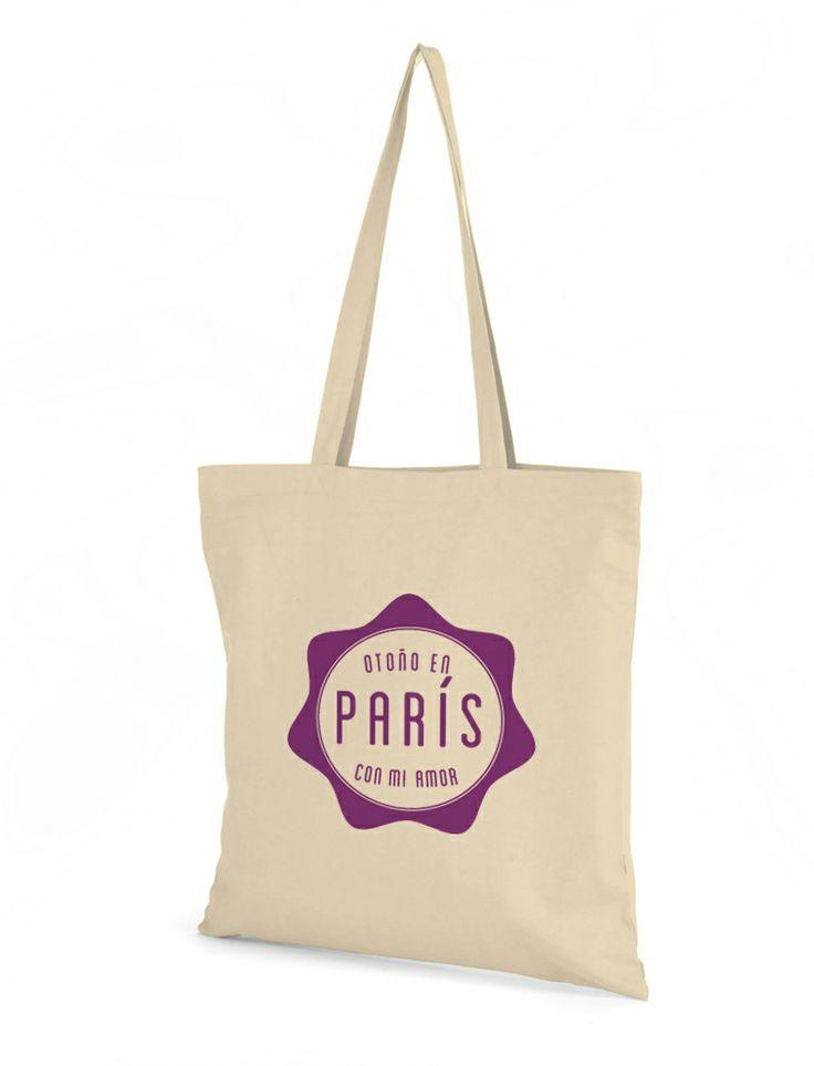Bolsa de algodón crema con diseño de Prismatika para Pak&Bag