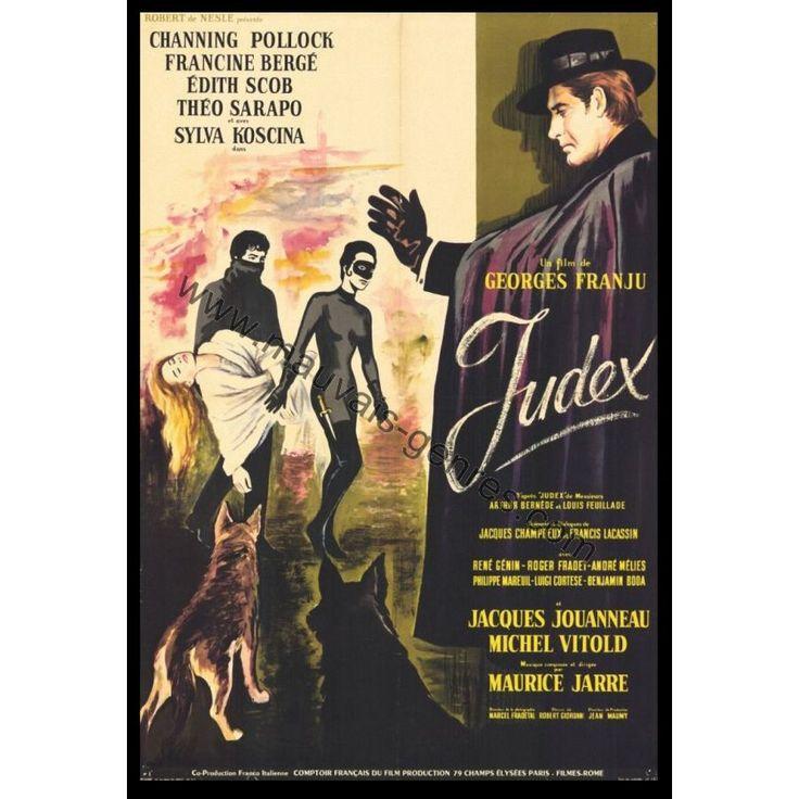 Après les Yeux sans Visage, Georges Franju réalisait en 1963 un fabuleux remake du Serial de Louis Feuillade : Judex. L'affiche est fantastique (comme le film) et non, ce n'est pas Fantômette en arrière plan.