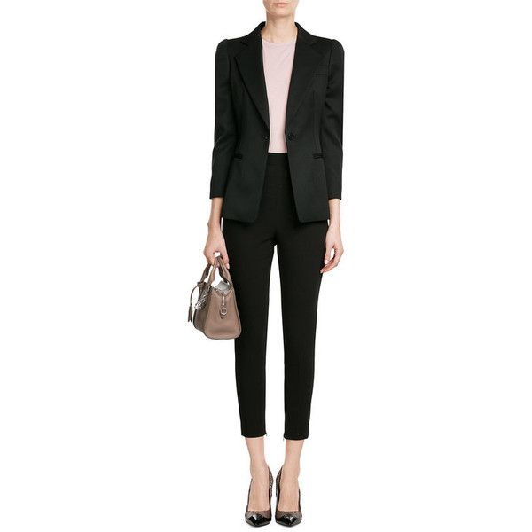 Alexander McQueen Tailored Wool Blazer (112,865 INR) ❤ liked on Polyvore featuring outerwear, jackets, blazers, alexander mcqueen blazer, slim fit wool jacket, alexander mcqueen, tailored blazer and tailored jacket