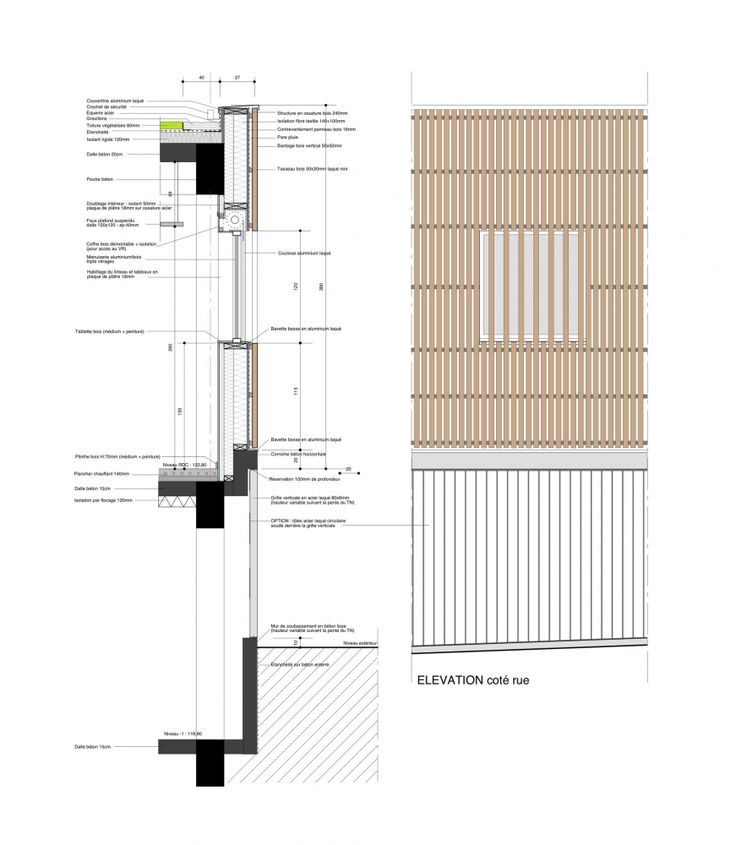 façade details | The House of the Early Childhood | Mayenne, France | Topos Architecture | 2012