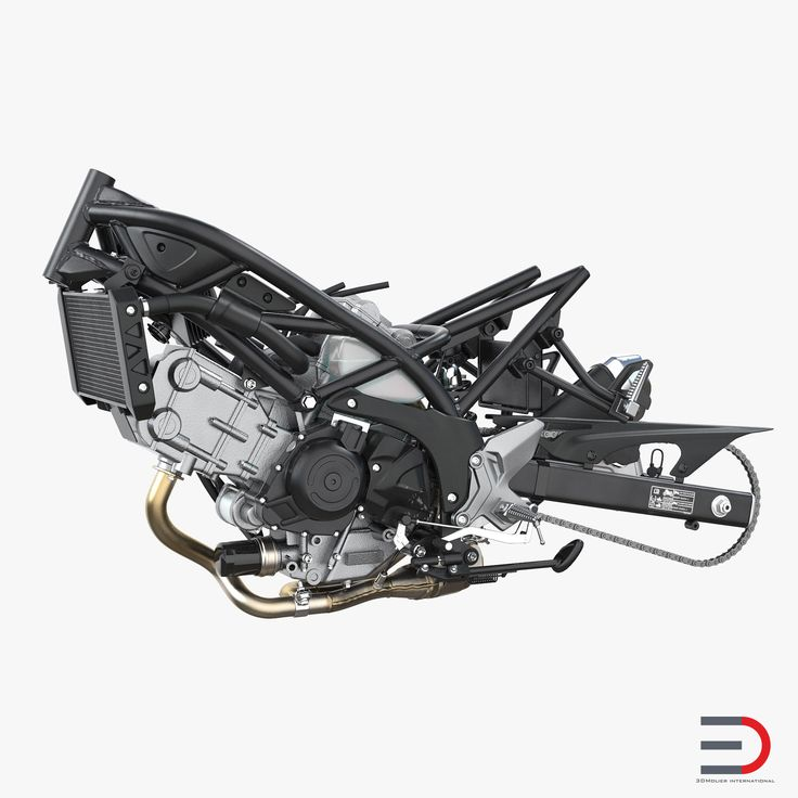 Sport Bike Engine 3D model