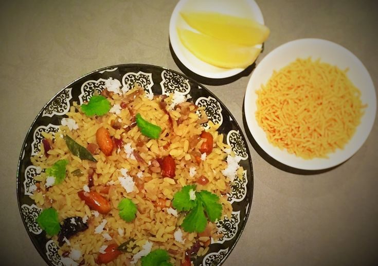 Poha (Flattened rice with spices) - SpicyTamarind