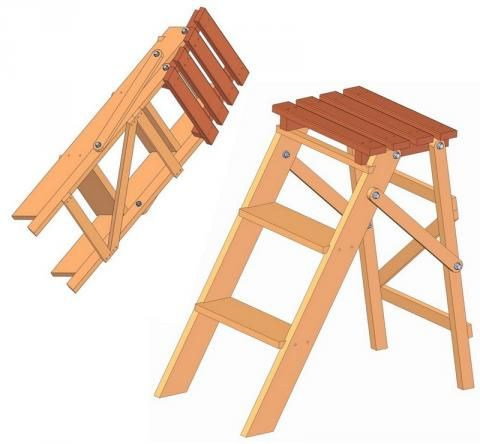 Folding Step Ladder Plan Shop Ideas Pinterest Stools