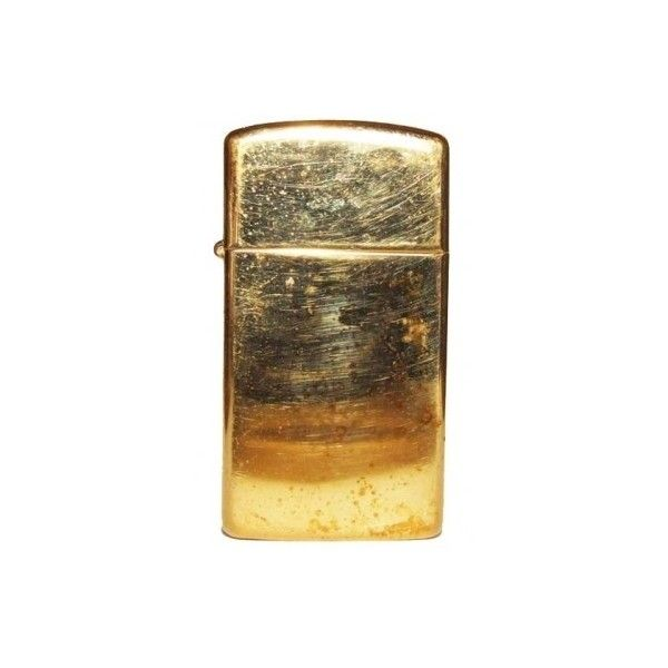 Gold Tone 2000 Zippo Slim Cigarette Lighter ($5) ❤ liked on Polyvore featuring home, home improvement, fillers, smoking, accessories, lighters and extras
