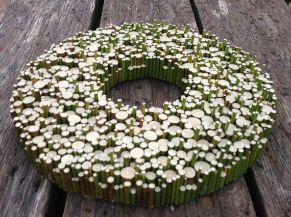 All year round wreath Wood Slice Wall