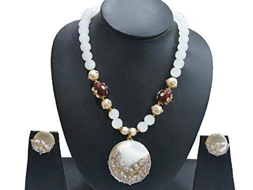 White Pearls Cz Amazing Bollywood Style Gold Plated Tradi... https://www.amazon.com/dp/B06W2LS4ML/ref=cm_sw_r_pi_dp_x_r8vPyb0M821PM