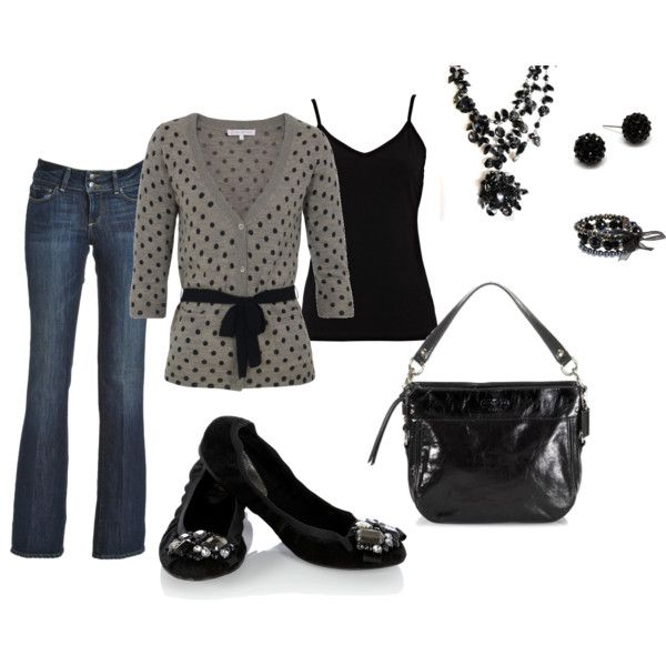 Black Gray, Polka Dots, Closets, Holiday Outfit, The Offices, Parties Outfit, Casual Fridays, Black Pants, Casual Dressy