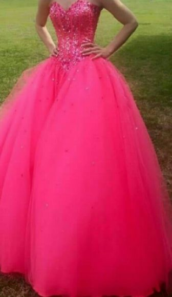 Mori Lee Prom Dress Pink corset back really pretty & poofy. Mori Lee Dresses Strapless