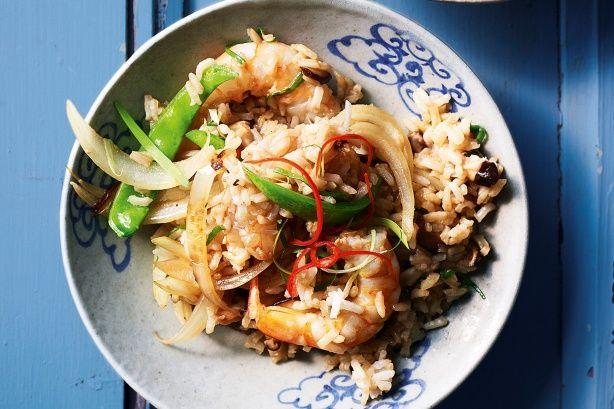Prawn & shiitake stir-fried rice | Sensational Shiitake | Pinterest