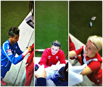 Karina Leblanc, Christine Sinclair and Sophie Schmidt - how to be an Olympic Hero, Canadian style