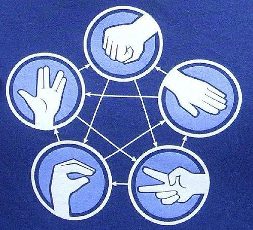 Rock Paper Scissors Lizard SpockLizards Spock, Bangs Theory, Paper Scissors, Scissors Lizards, Big Bang Theory, Big Bangs, Big Band Theory, Cut Paper, Rocks Paper