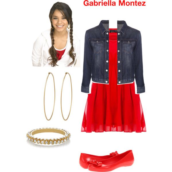 High School Musical - Gabriella Montez by kawaiikute101 on Polyvore featuring Pussycat, BLK DNM, Mel by Melissa, Isharya and Social Anarchy