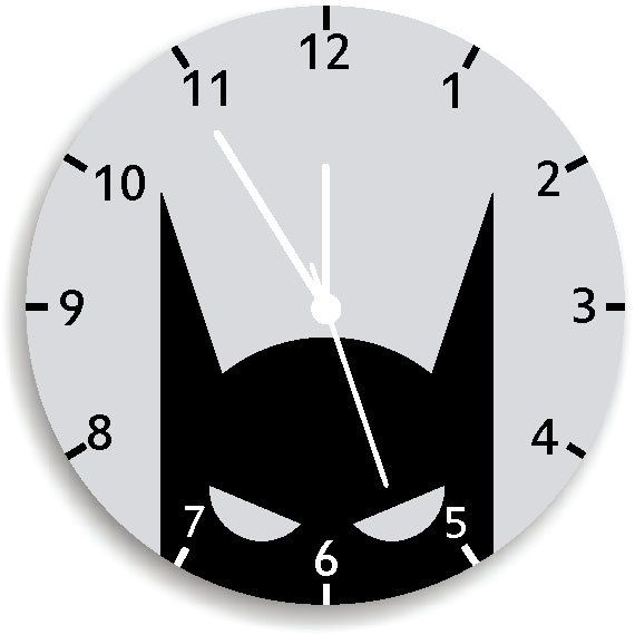 Spring SALE Batman Wall Clock Nursery Room by KidODesignStudio