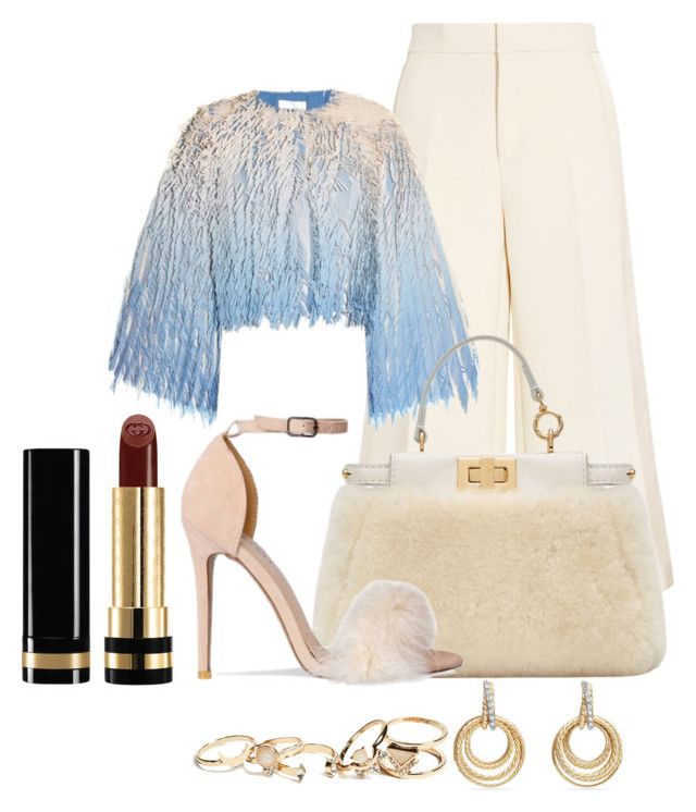 """Untitled #2005"" by social-outcast-16 on Polyvore featuring Joseph, Marco de Vincenzo, Fendi, GUESS, David Yurman and Gucci"