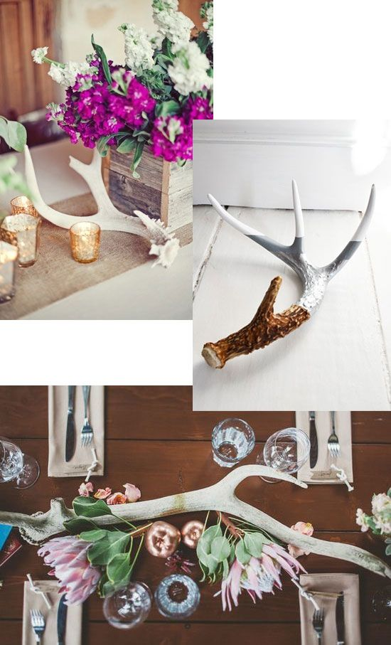Deer Antler Table Decorations Modern Coffee Tables And Accent Tables