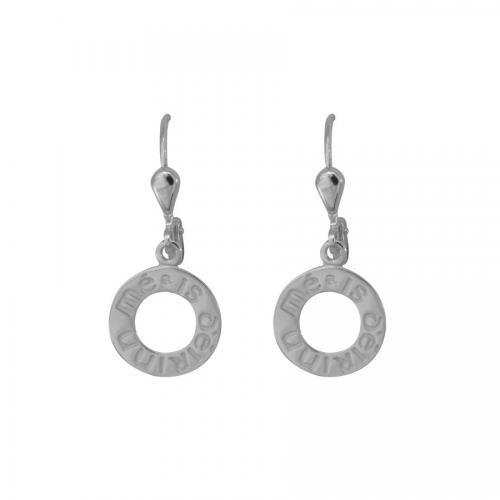I Am of Ireland Circles Earrings - Silver