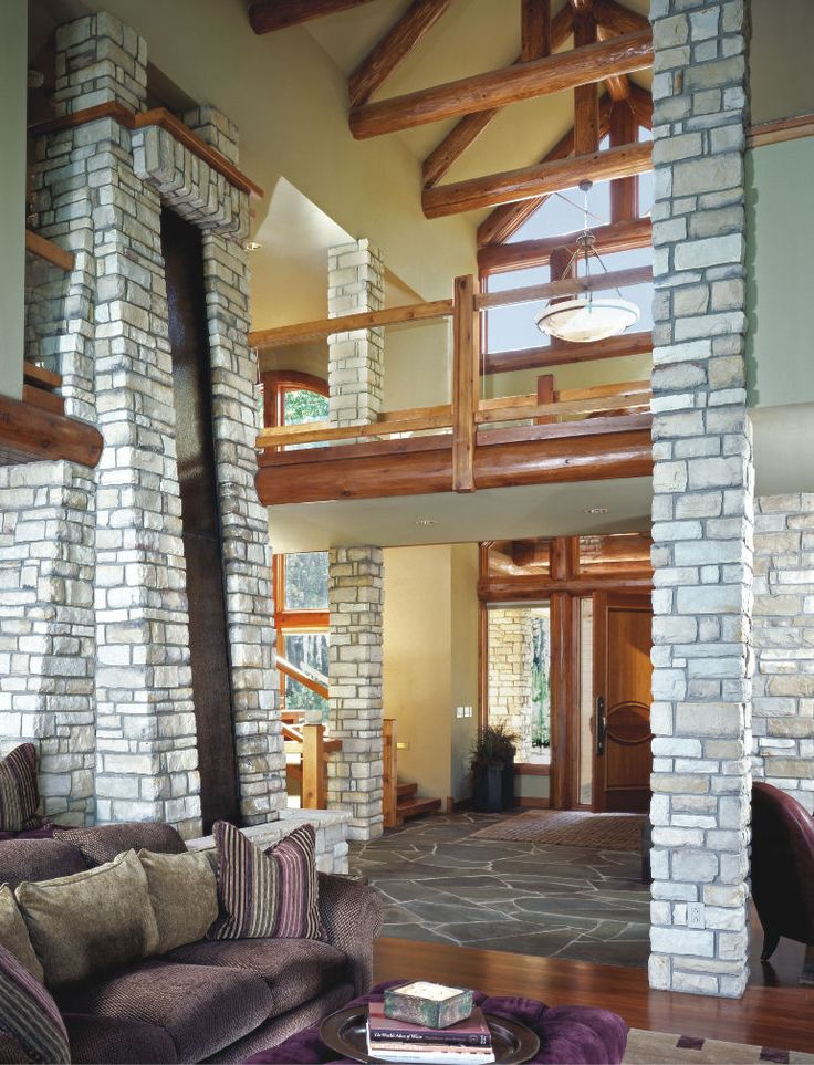 great room by wisconsin log homes national design build log timber - Design Homes Wi