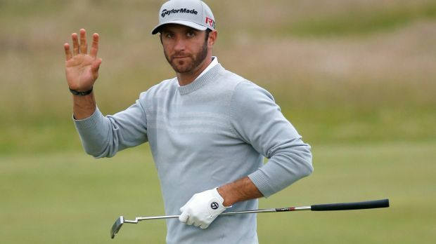 Dustin Johnson led the British Open for three days and nearly won the US Open. Nearly. Now he's vying to stay alive in the final round of the British Open.