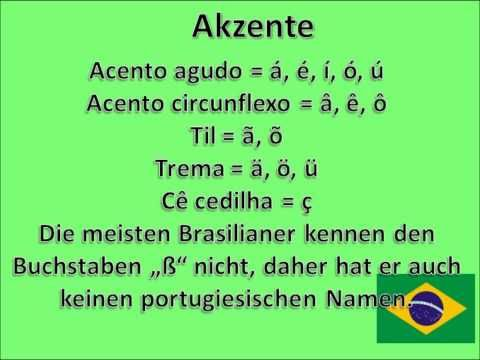 The Brazilian Alphabet / Das brasilianische Alphabet - YouTube