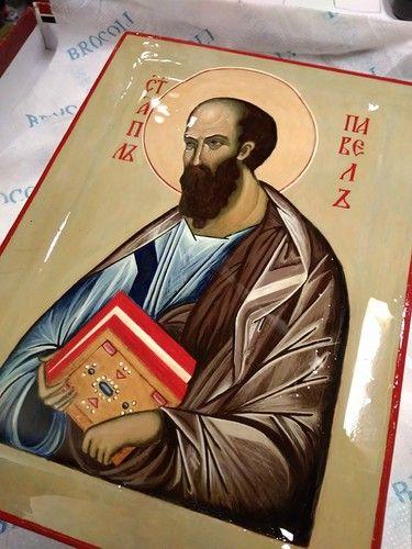 ну вот.. - ДЕЛОРУК...  Первая  икона  -  Святой  апостол  Павел.  Автор  -  Н.  Землянская.
