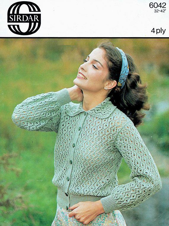 PDF Vintage Ladies Womens Knitting Pattern Period Lacy Peter