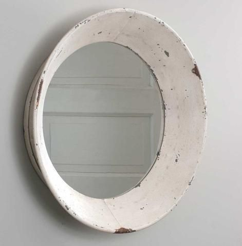 Dutch Round Rustic Shabby Chic Tin Wall Mirror Primitive Cottage Farmhouse If you are looking for a mirror to add to your country farmhouse home this is it ! you will just love this mirror. New Rustic #JustMirrors