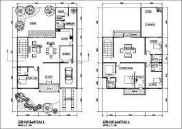 desain rumah minimalis 2 lantai type 200: Denah rumah minimalis 2 lantai desain rumah modern