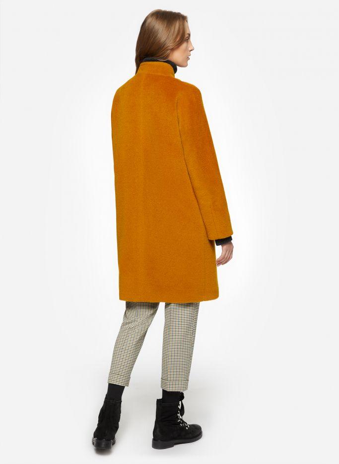 Cappotto senape in lana e alpaca con cerniera | Cappotti