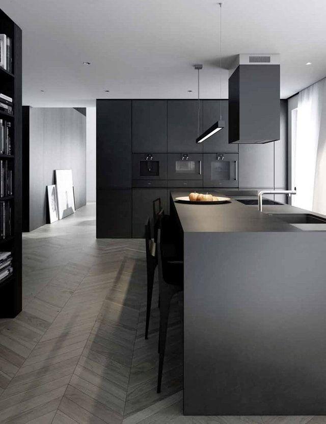 M s de 25 ideas incre bles sobre cocinas negras en for Muebles de cocina fiona