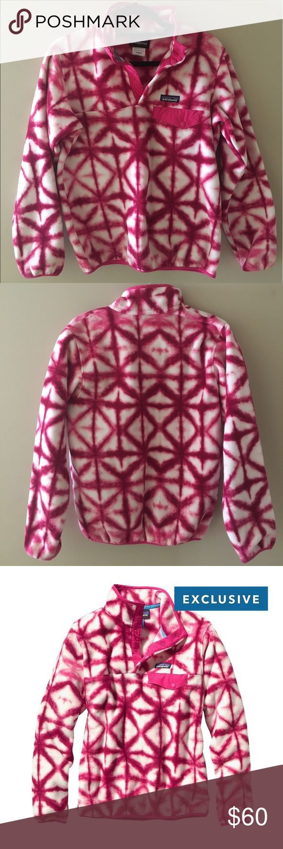 Patagonia Synchilla Snap-T Tie-Dye Fleece Pullover Patagonia Synchilla Tie-Dye Fleece Pullover with snap pocket. Women's small. Only worn a few times but in great condition and looks brand new! Patagonia Jackets & Coats