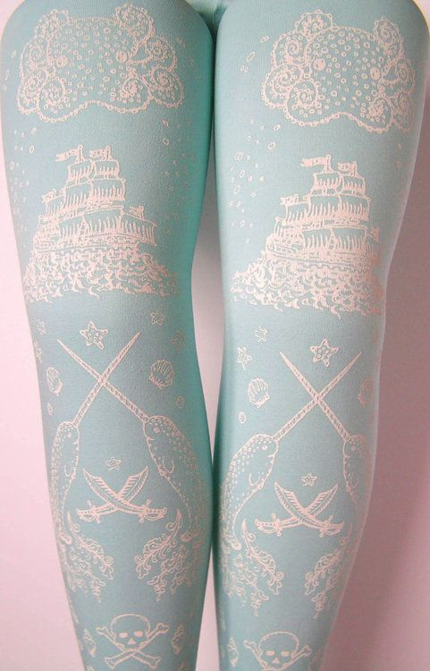 Something Blue (tights): Baby Blue, Pirates Ships, Prints Tights, Fashion Shoes, Tattoo Tights, Blue Shoes, Something Blue, Cute Tights, Blue Tattoo