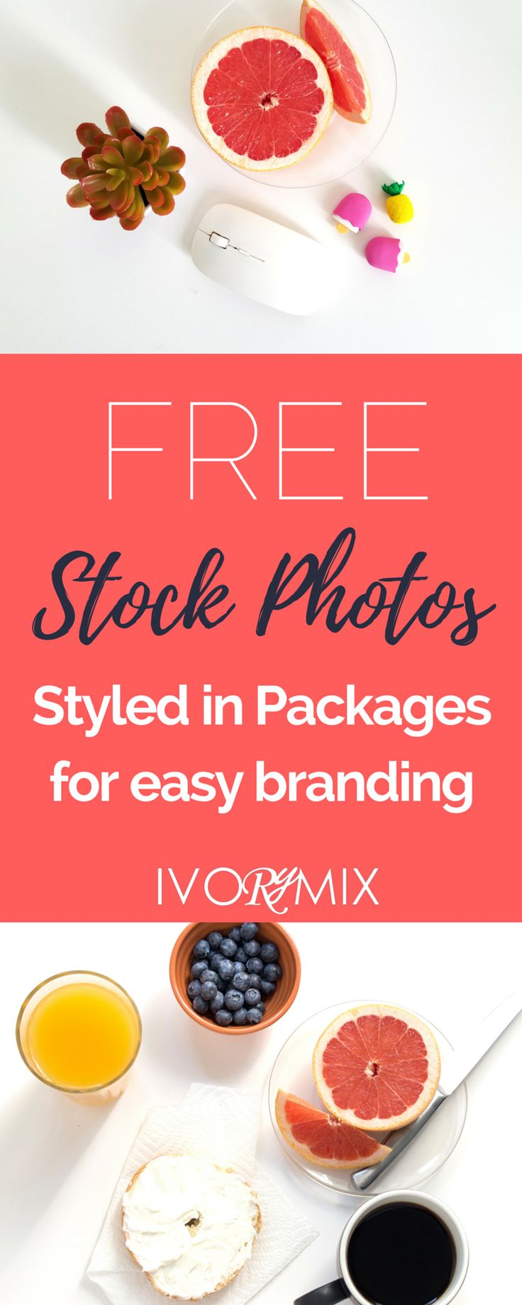Free Stock Photos styled and packaged for easy branding on your blog from Ivorymix