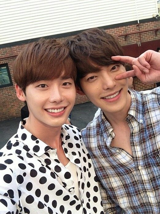 I love they two people,there's kim woo bin and lee jong suk