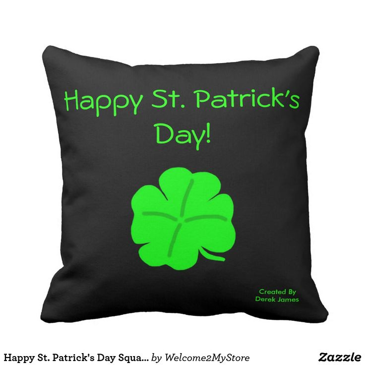 Happy St. Patrick's Day Square Pillow  #stpatricksday st.patricks day #saints_patricksday saints patricks day treats saints patricks day kids saints patricks day outfits saints patricks day gift #saintspatricksday #womensday2018 #ebayproducts leggings st.patricks day womens tshirts womens day #womensday #costumes #pillows  st.drink party #patricksdayshirts #shamrock patricks day jewelry #toddler St. patricks day pillows #decoration #ornaments #mug st patricks day decorations