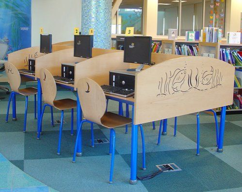 TMC Lorca computer carrels and chairs    Library Interior Designs   library  furniture. 16 best Mark Twain Neighborhood Library   Installations images on